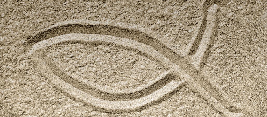Symbole das kreuz mit dem fisch - Christliche hintergrundbilder ...
