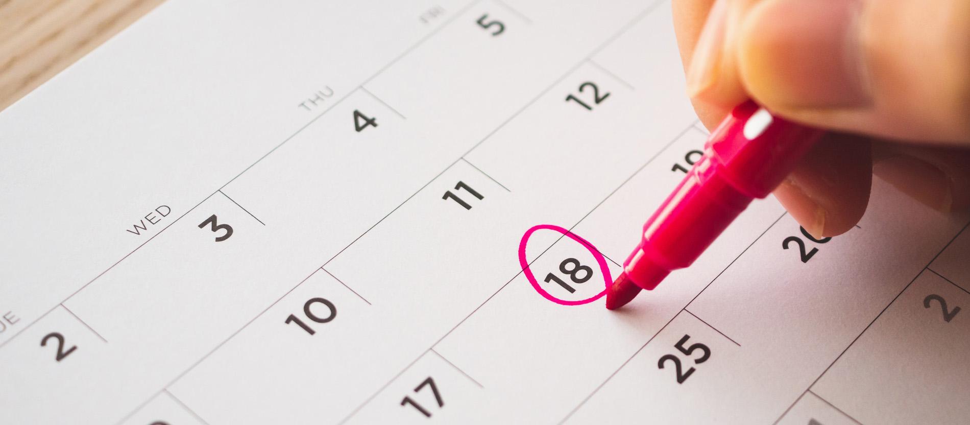 Der katholische Terminkalender