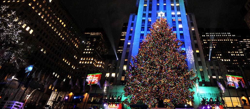 30.000 Lichter: Der Weihnachtsbaum am Rockefeller Center in New York.