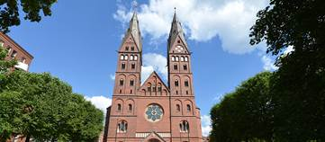 Der Mariendom in Hamburg.