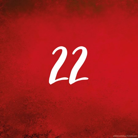 Tag 22: Adventskalender in rot - Türchen zu