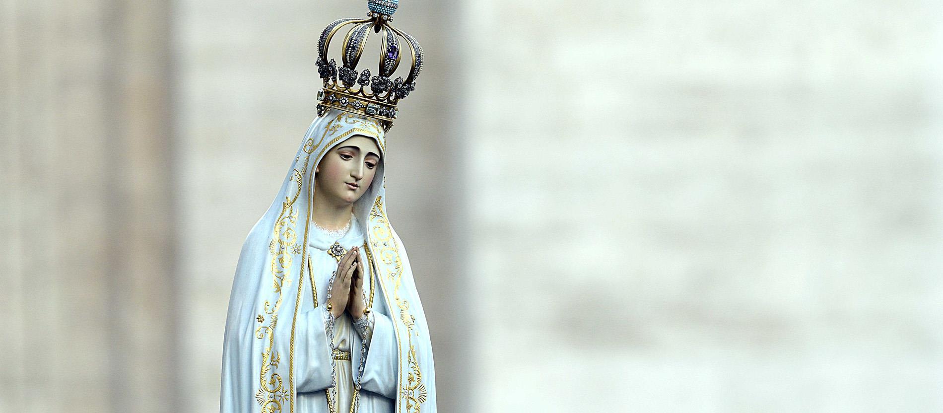 Statue der Madonna von Fatima