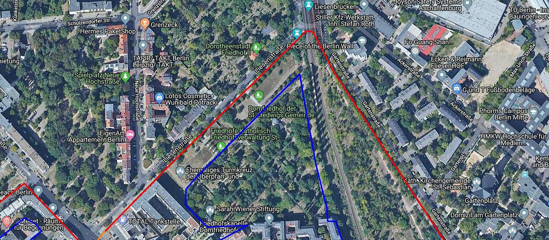 Berliner Mauer Verlauf Google Maps